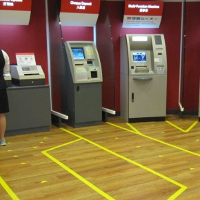Interaction with ATM machine at Hang Seng Bank